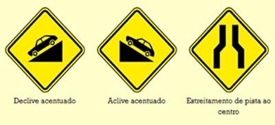 sinalização advertencia